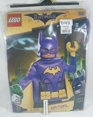 Child's Girls Deluxe LEGO Batman Movie Batgirl Costume Small 4-6x -New-
