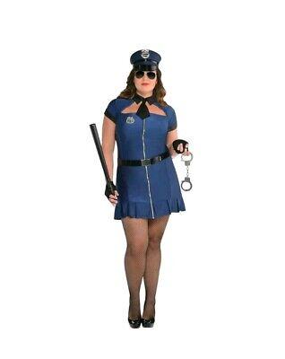 BAD COP FANCY DRESS COSTUME. SIZE ADULT PLUS - Bad Cop Kostüm