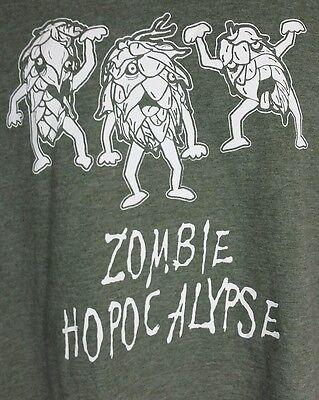Halloween Saying Funny (Craft Beer Zombie Apocolypse Hops T Shirt Sz L XL Funny Saying Halloween)