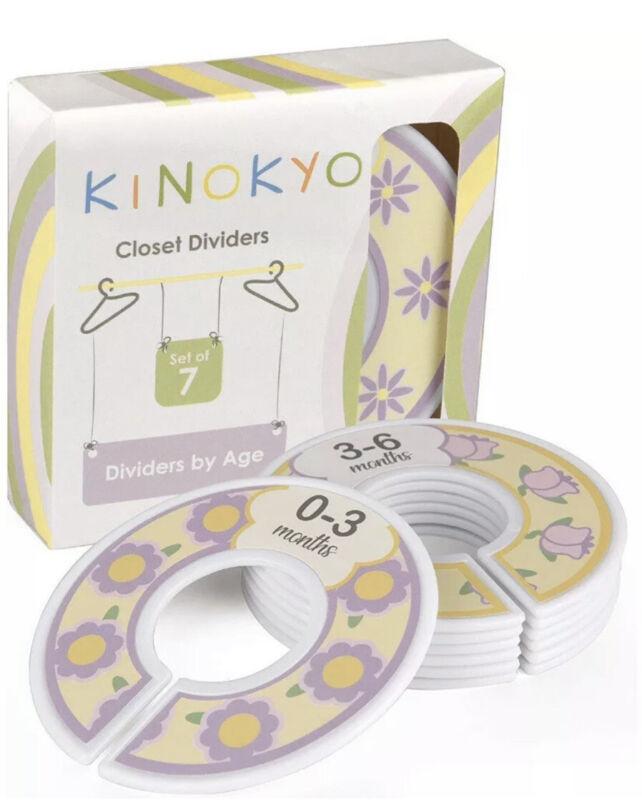 Kinokyo Baby Closet Dividers Set of 7 Age: Newborn 0-3 3-6 6-9 9-12 12-18 18-24