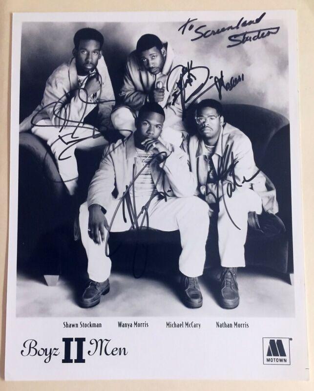 Boyz II Men Signed Photo by All 4 Original Members Stockman Morris McCary Morris