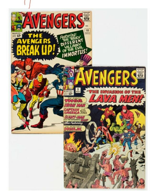 The Avengers #5 and 10 Group (Marvel, 1964)