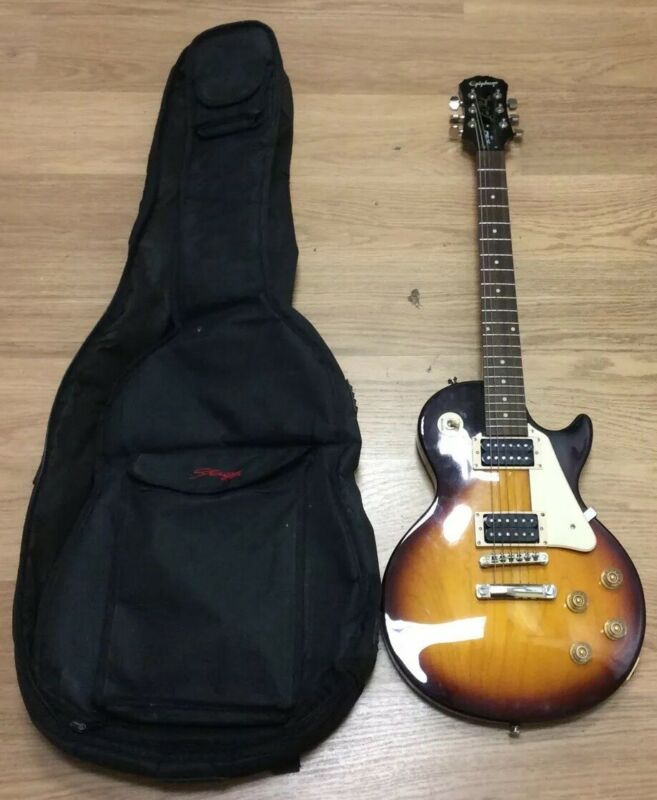 Epiphone Les Paul 100 Sunburst Electric Guitar Made By Samick, Indonesia In Bag