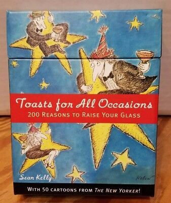 Toasts for All Occasions~200 Reasons to Raise Your Glass box of cards Sean Kelly