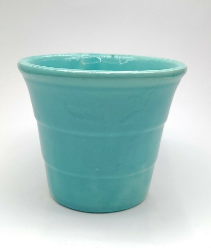 Vintage Aqua Blue Planter Usa Pottery