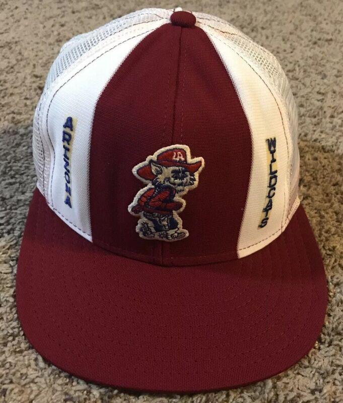 Rare Vintage 1980's U. of Arizona Wildcats Mesh Trucker Hat, AJD, Snapback