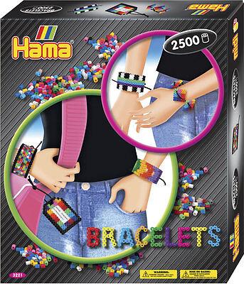 Hama® Midi Bügelperlen Set * ARMBÄNDER * Geschenkpackung Steckperlen Perlen