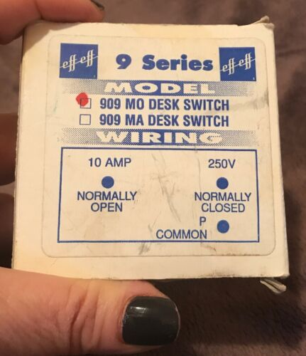 ESTATE SALE:  EFF EFF  Rocker Switch, Surface Mount, Beige 909 M0
