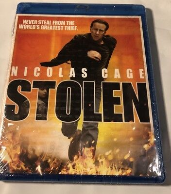 New And Sealed Stolen With Nicolas Cage  Blu Ray Disc  2013
