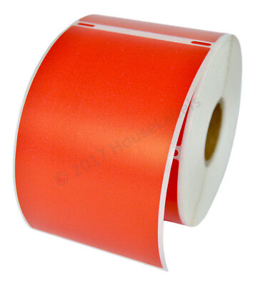 Dymo Lw 30256 Color Large Direct Thermal Red Shipping Labels - 6 Rolls Of 300