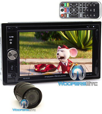 """pkg POWER ACOUSTIK PD-625B 6.2"""" CD DVD BLUETOOTH DETACHABLE FACE STEREO + CAMERA for sale  Shipping to India"""