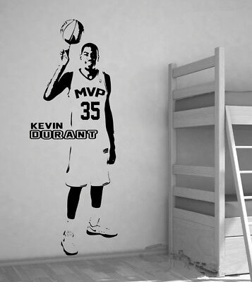 Removable NBA Kevin Durant Wallpaper Basketball Wall Sticker Home Décor Poster