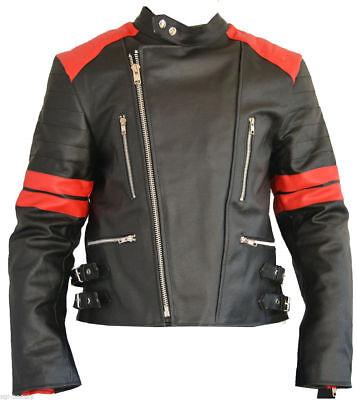 Herren Napa Leder (Herren Alte Schule Motorrad Biker Jacke Napa Schafsleder Motorrad)
