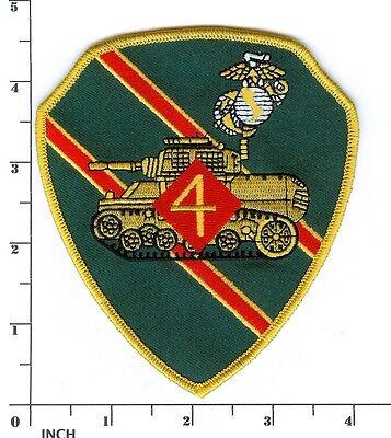 USMC 4th Tank Battalion 4.5-inch color PATCH Stuart Tanks ! Marines 4th Tank Bn ()