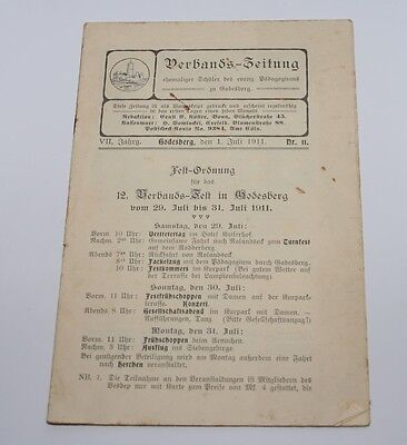 i8746 BAD GODESBERG Pädagogium, Verbandszeitung 1911, Vesdep