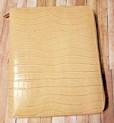 Almond Kikki K A5 Croc Zipper Binder With Inserts Planner