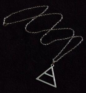 30 Seconds To Mars Triad Triangle Silver Necklace Echelon Pendant Jared Leto UK*