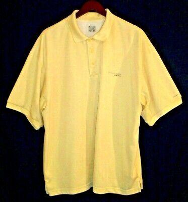 COLUMBIA PFG Mens Vented Shields River Polo Shirt OmniShade//Wick Black Large NWT