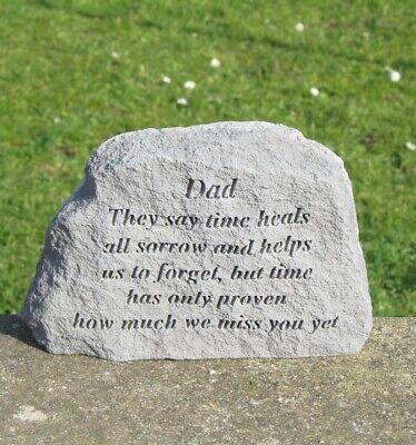 Dad Memorial Stone