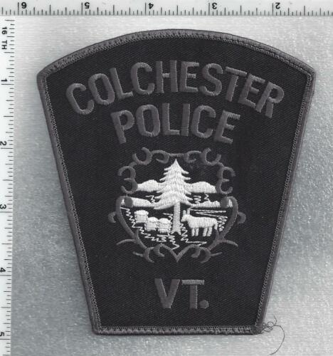 Colchester Police (Vermont) 2nd Issue Uniform Take-Off Subdued Shoulder Patch
