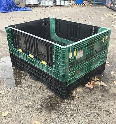 64x48x34 Plastic Knockdown Gaylord Shipping Container Bin