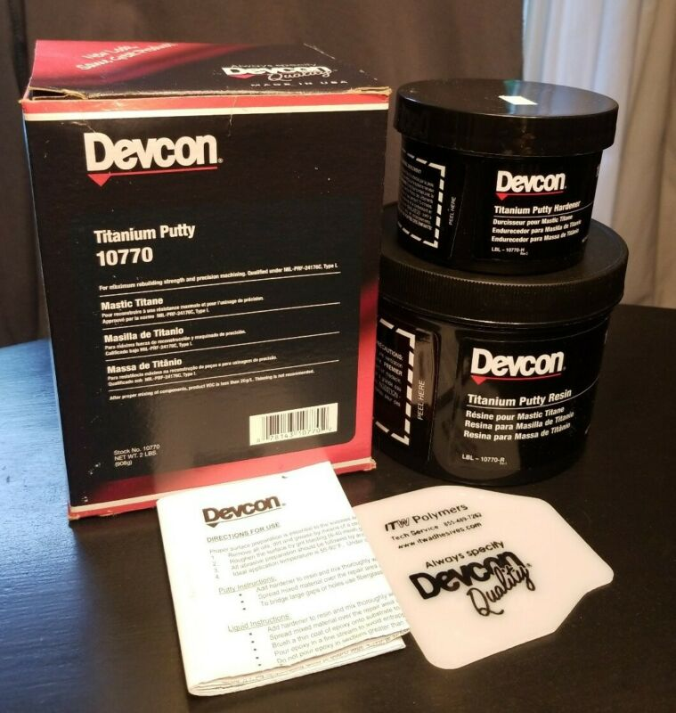 Devcon Titanium Putty 10770 Complete & Sealed 2lbs
