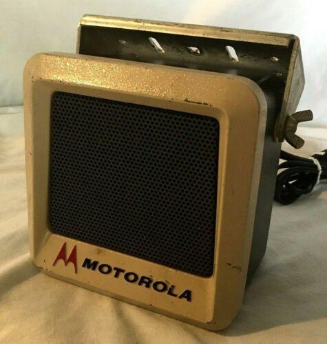 LAPD Vintage Motorola External Police Radio Speaker W/ Brackets  TSN6000A-1