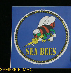 US-NAVY-SEA-BEES-USS-DECAL-BUMPER-STICKER-SEABEES