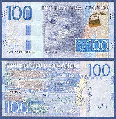 SCHWEDEN / SWEDEN 100 Kronor (2016) UNC P.NEW Greta Garbo