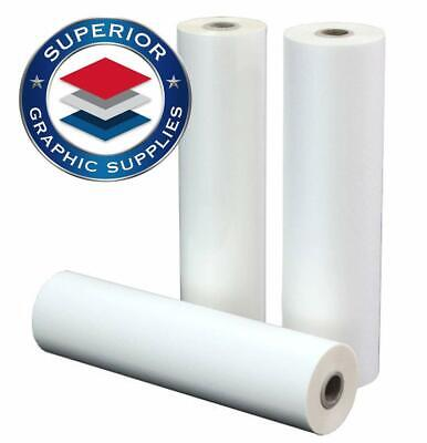 Pet Laminating Film Heat Adhesive 1 Core 0.003 Thick Clear Gloss 1 Roll Pack