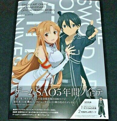 -UK- Sword Art Online 5th Anniversary Official Design Works Game SAO Art Book (Designer Online Uk)