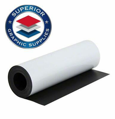 Magnetic White Material Strongly Flexible Magnetic Sheet Roll - 0.03 Inch Thick
