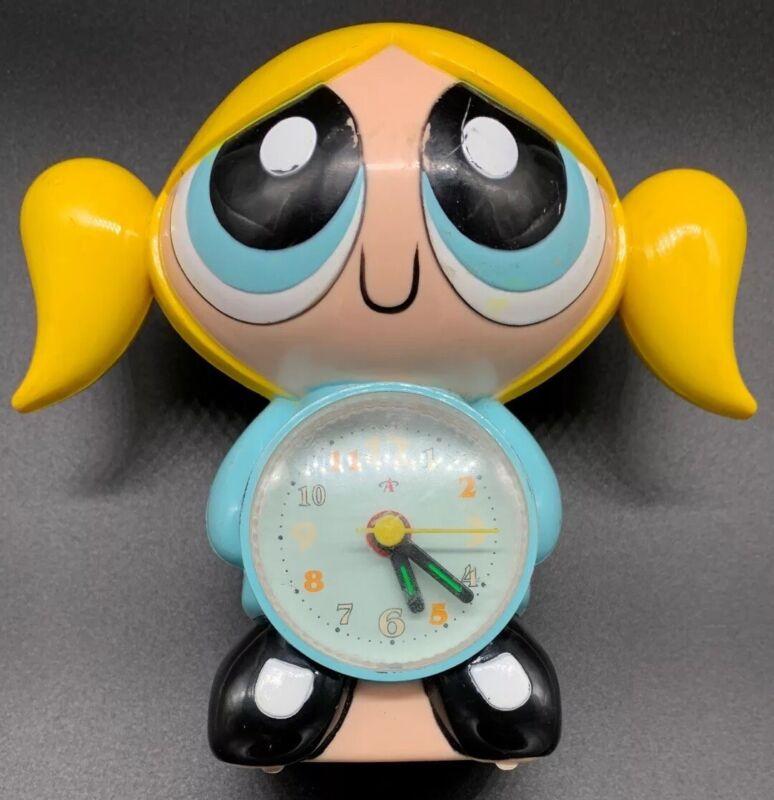 Rare Vintage Powerpuff Girls Blue Bubbles Alarm Clock