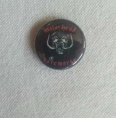 MOTÖRHEAD WARPIG NO REMORSE 80 ies RARE COLLECTORS BUTTON Lemmy Kilmister