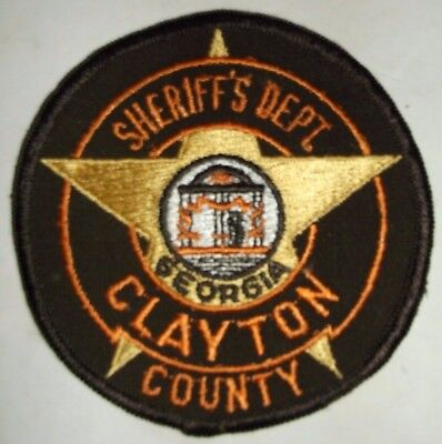 Clayton County Georgia Sheriff's Department Police Patch Sew On Star Courthouse