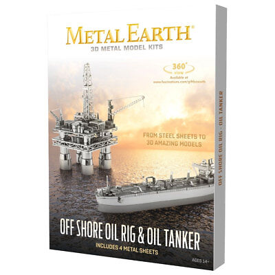 Metal Earth: Offshore Oil Rig + Tanker in Box