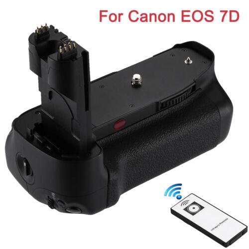 NEW Battery Grip Holder For Canon BGE7 BG-E7 EOS 7D DSLR Cameras +IR Remote US