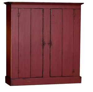Primitive farmhouse kitchen cupboard cabinet painted for Reproduction kitchen cabinets