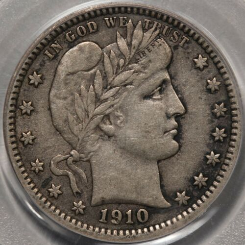 1910 Barber Quarter PCGS XF-40. Slightly Better Date and PQ!