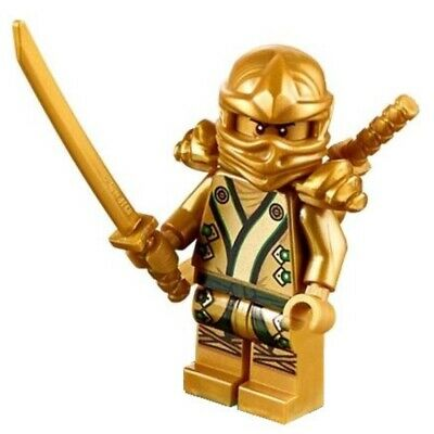 Genuine Lego Ninjago Lloyd Golden Ninja Armor Swords & Star njo073 VGC UK Seller