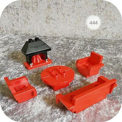 Lego Duplo >> KAMINZIMMER << mit großem Kamin und Couch-Garnitur,