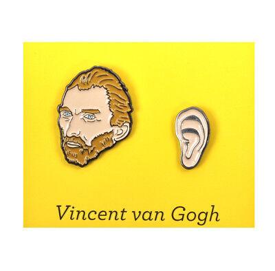 Vincent Van Gogh & Ear Twin Pin Set - Badge / Pin / Lapel Pin