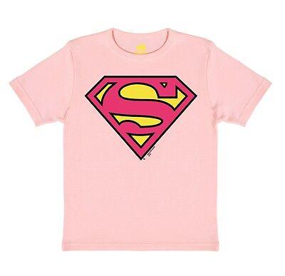 d - Superman Logo PINK Kinder T-Shirt - rosa - TRAKTOR® (Rosa Superheld)