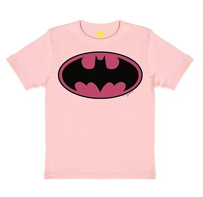d - GC - Batman Logo PINK Kinder T-Shirt - rosa - TRAKTOR® (Rosa Superheld)