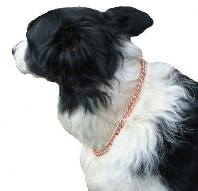"""COPPER MAGNETIC THERAPY DOG CHAIN COLLAR (12"""" -  18"""" )"""