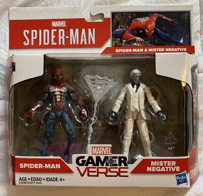 "Marvel Gamerverse Spider-Man & Mister Negative 3.75"" Figures 2-Pack New in Box"