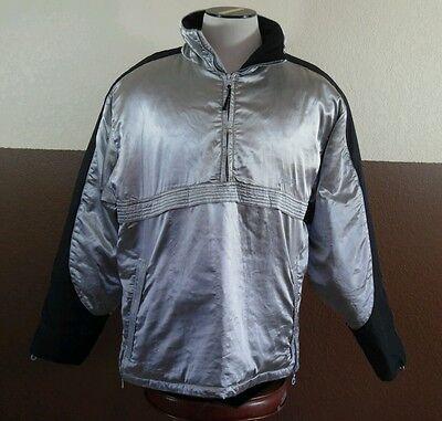Versace Sport Silver Half Zip Pullover Hooded Ski Snowboard Jacket Sz 52