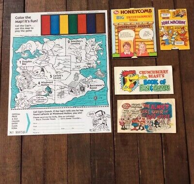 Vintage Cereal Prize Lot- Captain Crunch, Post Sugar Bear, Kelloggs Booklets HTF
