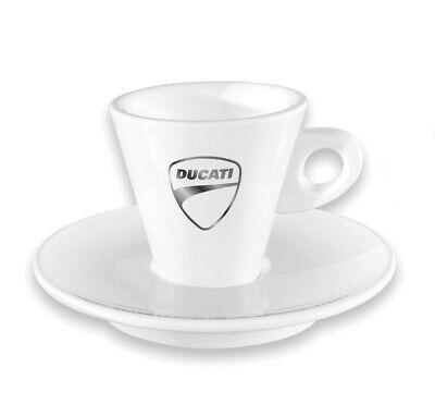 Ducati Company Essential Juego de Café Taza Platillo Café Kit Blanco Nuevo...