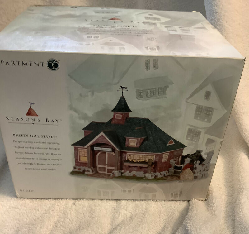 Dept. 56 Seasons Bay BREEZY HILL STABLES Lighted #56.53447